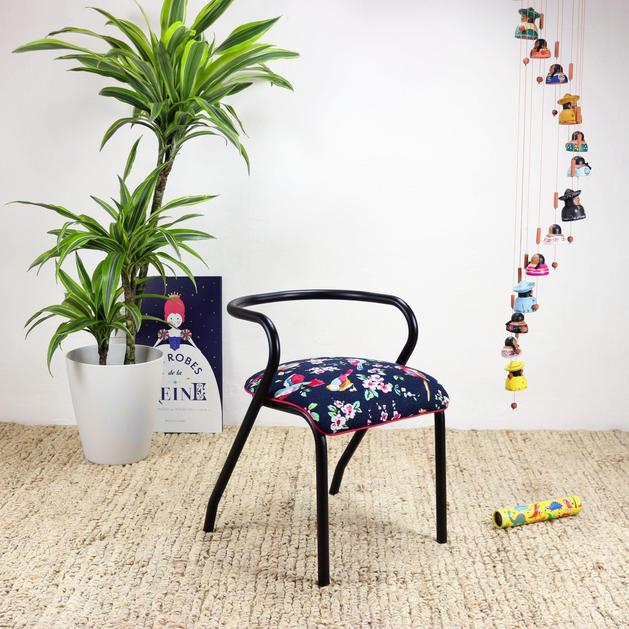 """Chaise D École Mullca chaise d'ecolier vintage mulla 300 """"casa azul"""" pièce unique"""